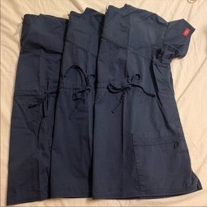 Dickies Navy Blue Maternity scrub sets Large (3)
